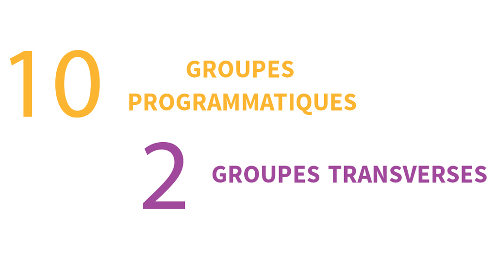 10 groupes programmatiques / 2 groupes transverses